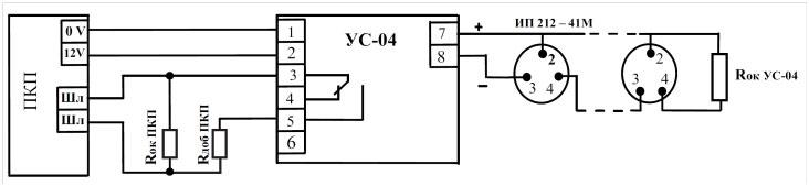 токов срабатывания УС - 04