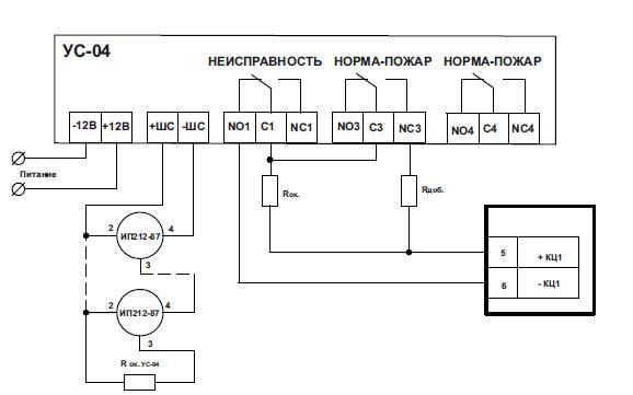 При подключение ИП212-41М, ИП212-141, ИП212-141М, ИП212-45, ИП212-95 схема подключения такая же как и у ИП212-87.